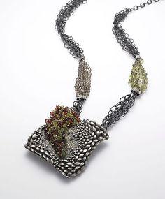Square Sea: So Young Park: Silver & Stone Necklace - Artful Home