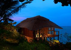 Meliá Zanzibar | Romance Ocean Front Pavilion room - even more beautiful at night!