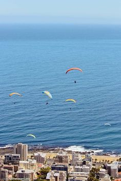 Paragliding Cape Town Signal Hill - one of the best things to do in Cape Town. You get a beautiful view Signal Hill, Lions Head, Table Mountain, and the ocean // http://localadventurer.com