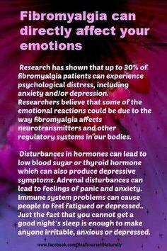 Fibromyalgia - psychological distress, anxiety, depression