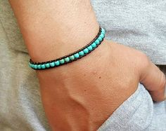 Turquoise is known as the stone of leaders, thought to bring leadership skills to those who wear it. Gemstone Bracelets, Gemstone Necklace, Bracelets For Men, Shambala Bracelet, Yoga Bracelet, Turquoise Stone, Necklace Designs, Beautiful Hands, Turquoise Bracelet