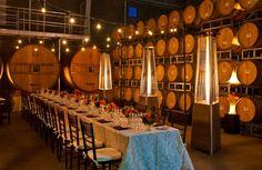 Ambiance in J Vineyards & Winery's Barrel Room. Love. #wine