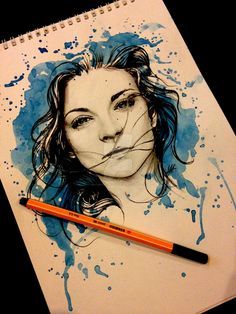 Pretty Badass Margaery Tyrell Watercolor Portrait Illustration by AntoniettaArnoneArts Graffiti Tattoo, Margaery Tyrell, Game Of Thrones Fans, Portrait Illustration, Orange Is The New Black, Fire And Ice, Watercolor Portraits, Drawing Sketches, Tattoo Drawings