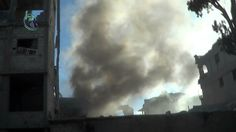 داريا 15-5-2014 هـام استمرار القصف بالاسطوانات المتفجرة وقذائف القواذف ا...