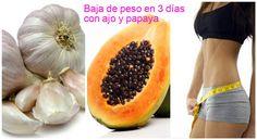 Cómo bajar de peso en 3 días con ajo y papaya ~ Manoslindas.com