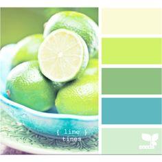 Lime and aqua