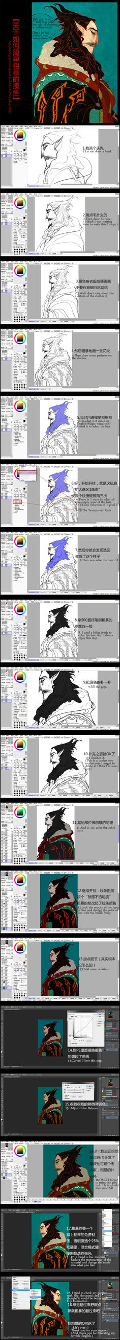 My painting process - Old Mephis by Wavesheep.deviantart.com on @deviantART