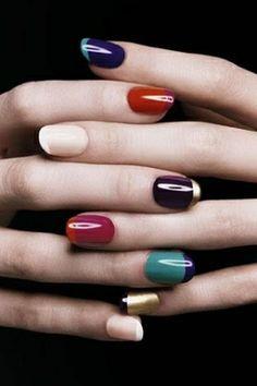 modern take on the french manicure. YSL nail polish. by nita