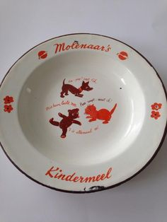 Blikken bordje van Molenaars kindermeel My Childhood Memories, Sweet Memories, Nostalgic Pictures, Silly Putty, Vintage Plates, Long Time Ago, Vintage Children, Old Things, Retro