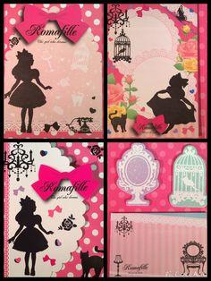 Alice In Wonderland Tri-Fold Sticky Notebook