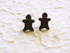 Gingerbread Boy Earrings Cute Cookies by SouZouCreations on Etsy, $10.00