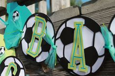 Soccer Theme Banner Baby Shower by SashasCreativeOutlet on Etsy