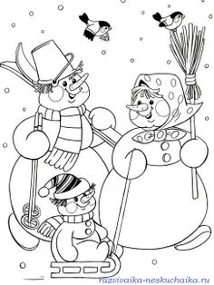 bałwanki 5 Coloring Pages Winter, Cat Coloring Page, Christmas Coloring Pages, Colouring Pages, Coloring For Kids, Adult Coloring Pages, Coloring Sheets, Coloring Books, Painting Templates