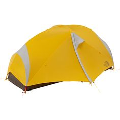 The North Face Triarch 1 Tent: 1-Person 3-Season Summit Gold/Weimaraner Brown