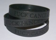 My dad wears one of these in honor of a friend who passed. Now, we need to wear them for him. Fuck you, cancer, stay the fuck away from my dad.