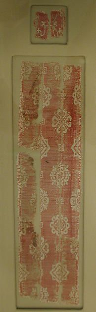 Fragment Date: 5th century Geography: Iran Culture: Zoroastrian Medium: Silk; samite (?) Accession Number: 90.5.19b