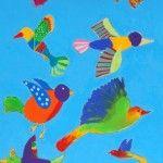 """Free like a Bird"" wall mural"