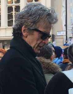 Another picture of Peter in London today at the #womensmarch