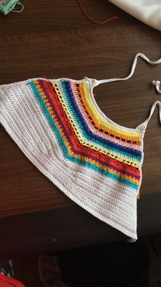 Crochet croptop summer colored