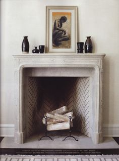 You cannot leave your fireplace the same way as the first time you install it in the home. For a focal point, you should make your fireplace looks terrific to adorn the décor of your entire room. Empty Fireplace Ideas, Fireplace Logs, Fireplace Design, Fireplace Decorations, Fireplace Tiles, Fireplace Modern, Farmhouse Fireplace, Unused Fireplace, Decorative Fireplace