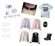 """""""Pastel Goth Aesthetic"""" by damien5cain ❤ liked on Polyvore"""