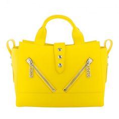 Kenzo Tasche – Kalifornia Satchel Bag Leather Lemon – in gelb – Henkeltasche für Damen