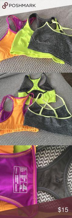 3 Sports Bras: New Balance (2) Champion (1) Great Condition! New Balance Intimates & Sleepwear Bras