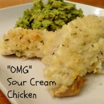 Parmesan Panko Crusted Squash With Sour Cream Recipe — Dishmaps
