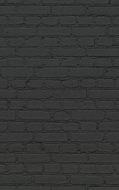 A faux black brick wallpaper is an effortlessly stylish choice & this dark brick design will keep your wall sleek & impressive. Brick Wallpaper Iphone, Black Brick Wallpaper, Black Wallpaper Bedroom, Brick Wallpaper Mural, Black Background Wallpaper, Black Aesthetic Wallpaper, Retro Wallpaper, Cute Wallpaper Backgrounds, Dark Backgrounds