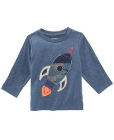 0220a4a767 First Impressions Baby Boys Rocket-Print T-Shirt, Created for Macy's - Blue