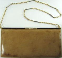 Bruno Magli Women Evening Shoulder Bag Vtg Beige.  RRR 66 #BrunoMagli #EveningBag