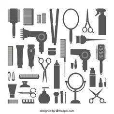 Equipamiento de peluquería Vector Gratis