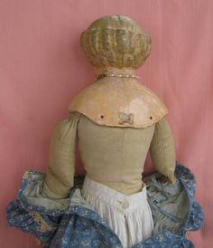 Large Wah Nonpareil Greiner Style Papier Paper Mache Head Doll | eBay