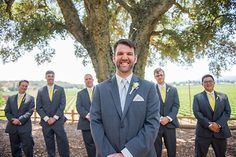 Wedding photography of this groom and groomsmen at Healdsburg Country Gardens near Napa California. www.danielnealphotography.com