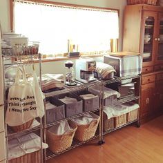 キッチン模様替え/すっきりキッチン/3Coins/3coinsの収納/カフェ風キッチンにしたい!…などのインテリア実例 - 2015-02-01 07:41:04   RoomClip(ルームクリップ)