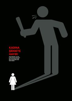 Turkish Campaign Against Women Abuse Typography Poster Design, Graphic Design Posters, Logo Design, Gender Equality Poster, Social Awareness Posters, Bullying Posters, Ads Creative, Virginia Woolf, Conceptual Drawing
