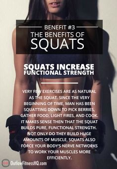 Squats Create An Anabolic Environment. No other exercise on the planet (with the possible exception of the deadlift) does more to promote overall muscle growth. Crossfit Motivation, Fit Girl Motivation, Weight Loss Motivation, Weight Loss Tips, Benefits Of Squats, Fitness Tips, Health Fitness, Fitness Quotes, Squat Workout