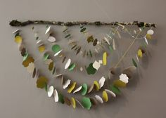 garland strung on tree branch - amazing idea! Art For Kids, Crafts For Kids, Arts And Crafts, Diy Crafts, Mobiles, Creative Play, Preschool Art, Nature Crafts, Crafty Craft