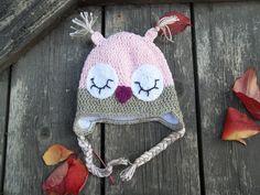 OWL Crochet Hat, Baby Girl Hats, Baby Boy Hats, Newborn Baby Hat, Knit Newborn Hat, Newborn Photography Prop