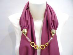 Fuchia Rose Woman Scarf For Spring Unique Fashion by bytugce, $29.00