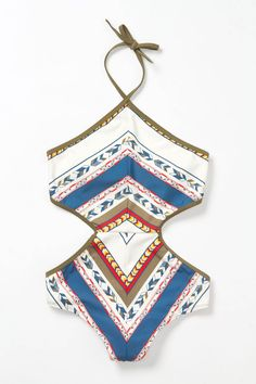 Sculpted Malliot Swimsuit from Anthropologie -- Normally don't like monokinis, but this one's the exception