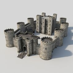 medieval castle 3d max - Medieval Castle... by happy3D