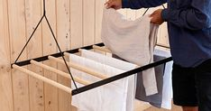Hanging Laundry Drying Rack – Sheila Maid – Laundry Hanging Rack – Clothing Airer – Wall / Ceiling M