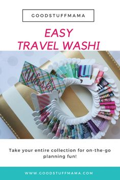 Travel washi, travel planning, travel crafts - if you love washi like I do, you want to take it with you everywhere you go - easy DIY planning or DIY Craft project How To Use Planner, Planner Tips, Planner Supplies, Happy Planner, Craft Supplies, Diy Craft Projects, Diy Crafts, Craft Ideas, Travel Crafts