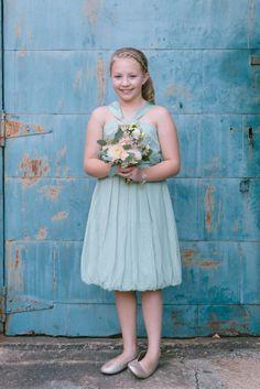 Junior bridesmaid | Rachel & Ben's Lace Factory Connecticut Wedding | Sweet Little Photographs
