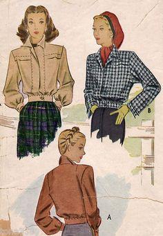 40s Vtg Sewing Pattern WWII - Eisenhower Jacket McCall 6360 B32   eBay