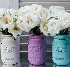 diy flower jar - Google Search