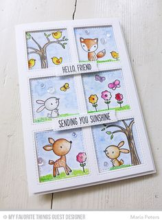 Forest Friends Stamp Set, Inside & Out Stitched Square STAX Die-namics, Blueprints 25 Die-namics - Maria Peters #mftstamps