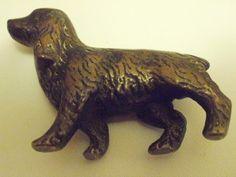Antique figurine bronze cocker spaniel figurine Art by denise5960, $48.00