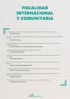 Fiscalidad internacional y comunitaria.    Editorial Dykinson, 2019 Jorge Martin, Editorial, December, Goals